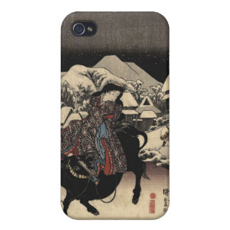 Kanbara (Japanese Woman Riding a Bull) Case For iPhone 4