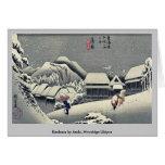 Kanbara por Ando, Hiroshige Ukiyoe Tarjetón