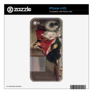 Kandahar Lady of Rank Engaged in Smoking plate 2 Skins For iPhone 4