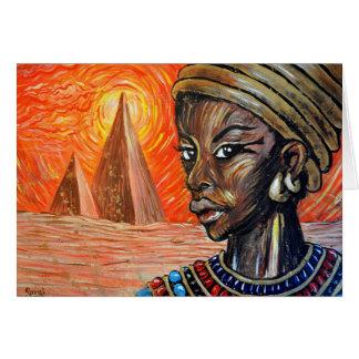 Kandake Warrior-Queen (Blank Inside) Card
