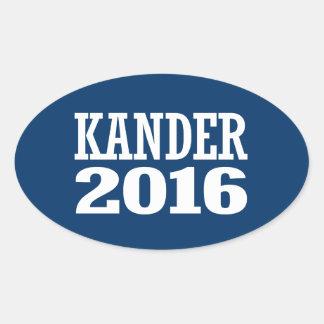 Kander - Jason Kander 2016 Oval Sticker
