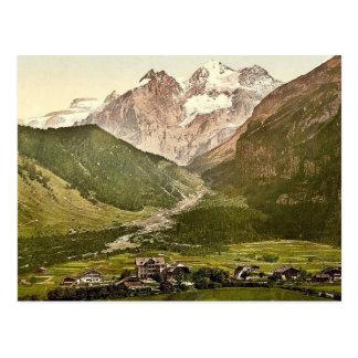 Kandersteg, Hotel Victoria and Blumlisalp, Bernese Postcard