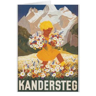 Kandersteg Switzerland Vintage Travel Poster Card
