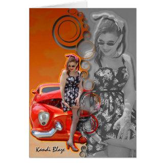 Kandi Blaze Pin-Up Greeting Card
