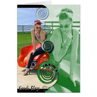 Kandi Blaze Rockabilly Greeting Card