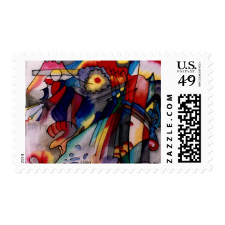Kandinsky 1913 Abstract Painting Postage Stamps