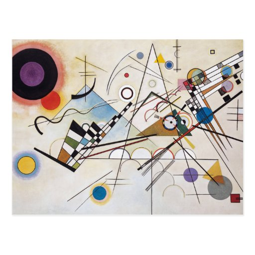 Kandinsky 1923/composition viii/pixdezines postcard