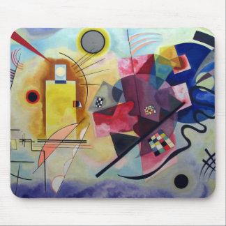 Kandinsky 1925/yellow/red/blue/pixdezines mousepad