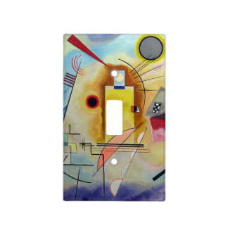 Kandinsky 1925/yellow/red/blue/pixdezines placa para interruptor