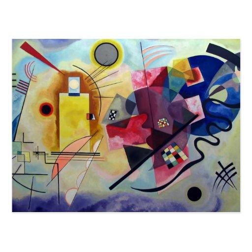 Kandinsky 1925/yellow/red/blue/pixdezines postcards