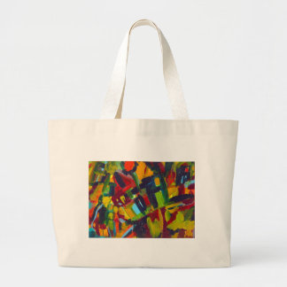 Kandinsky 304 Colorful Abstract Artwork Large Tote Bag