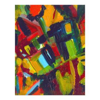 Kandinsky 304 Colorful Abstract Artwork Letterhead