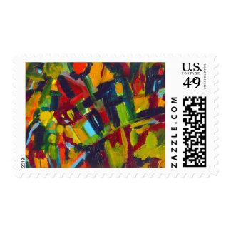 Kandinsky 304 Colorful Abstract Artwork Stamp