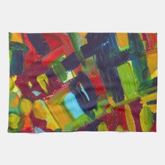 Kandinsky 304 Colorful Abstract Artwork Towel