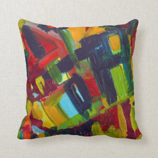 Kandinsky '304' Colorful Abstract Painting Throw Pillow