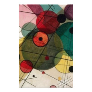 Kandinsky Abctract Circles in a Circle Stationery
