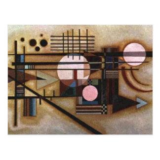 Kandinsky ablandó la construcción tarjeta postal