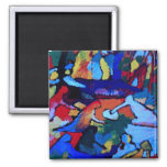 Kandinsky Abstract art 2 Inch Square Magnet