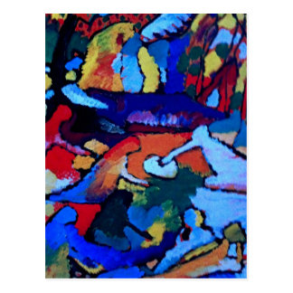Kandinsky Abstract art Postcard