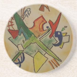 Kandinsky Abstract Art Sandstone Coaster