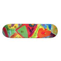 Kandinsky Abstract art Skateboard Deck
