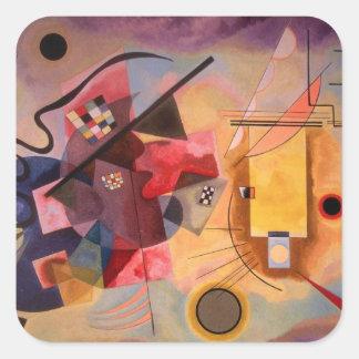 Kandinsky Abstract art Square Sticker