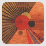 Kandinsky Abstract art Square Stickers