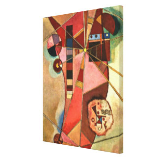 Kandinsky abstract artwork, Fixed Points Canvas Print