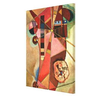 Kandinsky abstract artwork, Fixed Points Canvas Print