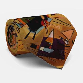 Kandinsky Abstract Black Violet Neck Tie