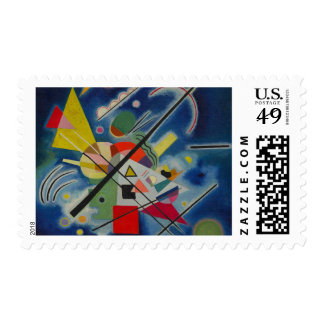 Kandinsky Abstract Blue Composition Postage