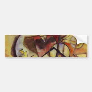 Kandinsky Abstract Circles Car Bumper Sticker