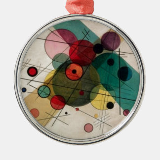Kandinsky Abstract Circles Ceramic Round Ornament