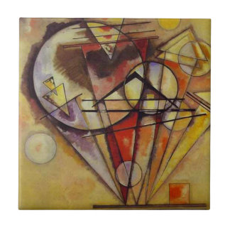 Kandinsky Abstract Circles Ceramic Tile