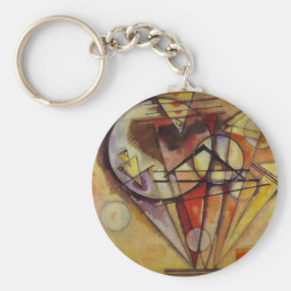 Kandinsky Abstract Circles Keychain
