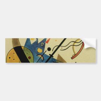 Kandinsky Abstract Circles Shapes Car Bumper Sticker