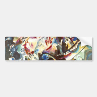 Kandinsky Abstract Composition VI Bumper Sticker