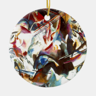 Kandinsky Abstract Composition VI Ceramic Ornament