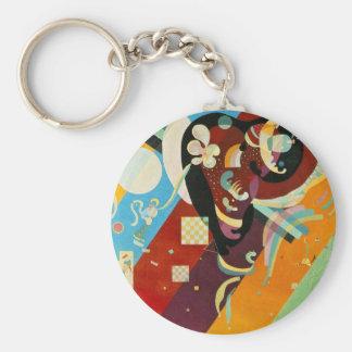Kandinsky Abstract Compositon IX Keychain