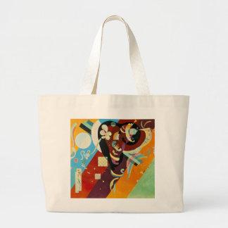Kandinsky Abstract Compositon IX Large Tote Bag