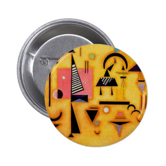 Kandinsky Abstract Decisive Pink Geometric Shapes Button