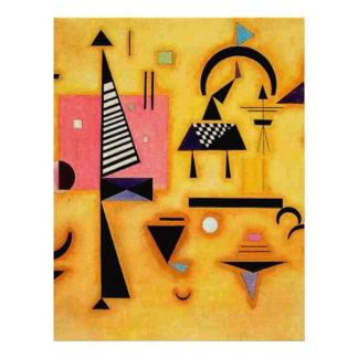 Kandinsky Abstract Decisive Pink Geometric Shapes Letterhead