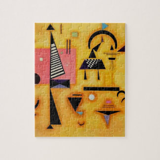 Kandinsky Abstract Decisive Pink Geometric Shapes Puzzle