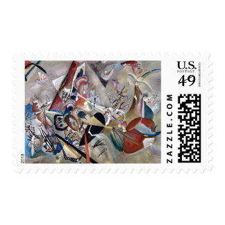 Kandinsky Abstract In Gray Composition Postage