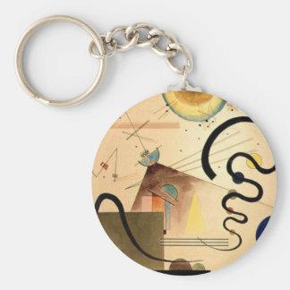 Kandinsky Abstract Keychain