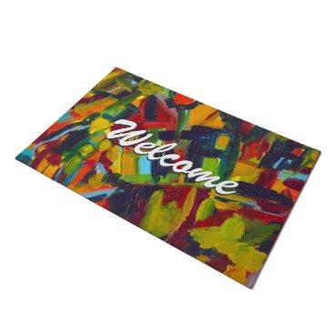 Kandinsky Abstract Modern Art Professional Welcome Doormat