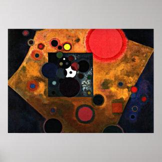 Kandinsky - Accent on Rose Poster