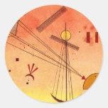 Kandinsky - accesorio ligero pegatina redonda