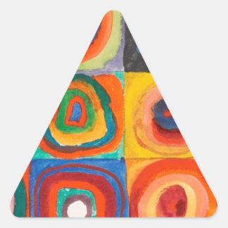 Kandinsky ajusta círculos concéntricos pegatina triangular