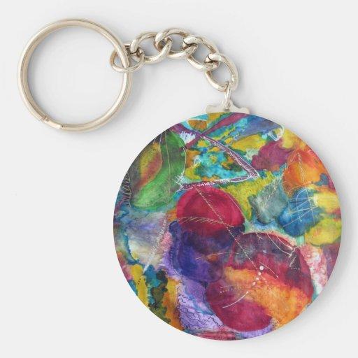 Kandinsky Basic Round Button Keychain